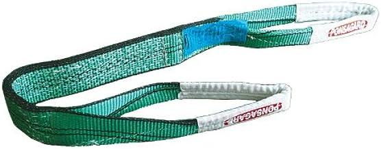 2t-1m. Platte hijsband met lusssen 2000kg - 1m. met PONSAGARD behandeling– anti-insnijden en antiwrijving - 030161001402