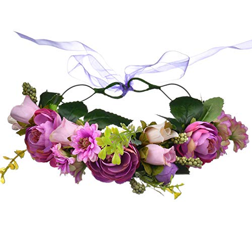 Arbres bruid bloemenkrans kroon bohemian fotoshooting garland bruiloft haarband slinger bloemen voor fotografie