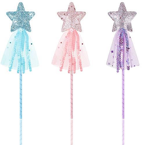 Varitas de Estrella Brillantes Varita de Princesa Varita de Hadas Palo de...