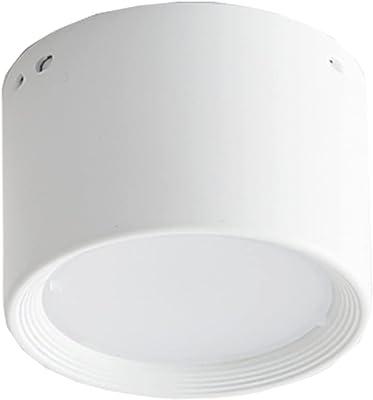 AMDHZ Plafonnier Simple Et Moderne Lampe Plafond Pied De Lumière Peint Pas Éblouissant Antirouille Utilisé pour Salon Le Restaurant Chambre À Coucher Couloir Rayon (Color : White Light, Size : 5W)