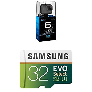 GoPro HERO6 Black and Samsung 32GB Memory Card with Adapter