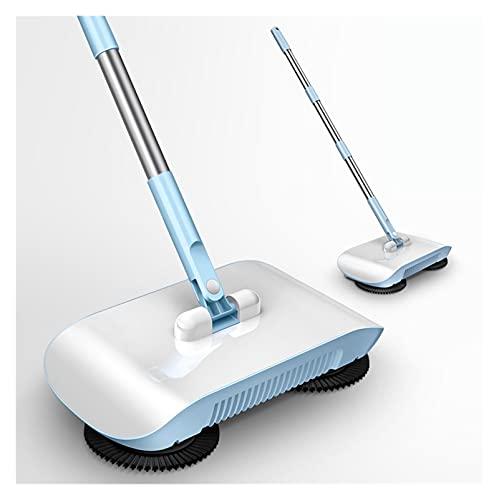 XINXI-YW Barredora Mango de Pisos Limpieza doméstica Broom Robot Suelo Limpiador de Piso Cocina Sweeper Mop Barrer máquina Escoba y Polvan para Pisos alfombrados. (Color : Blue Within 3 Pads)