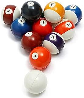 "Akusety Mini Sports Stress Balls Billiards Fun, 12-Pack Foam Ball 2.5"" Relaxable Stress Relief Squeeze Balls"