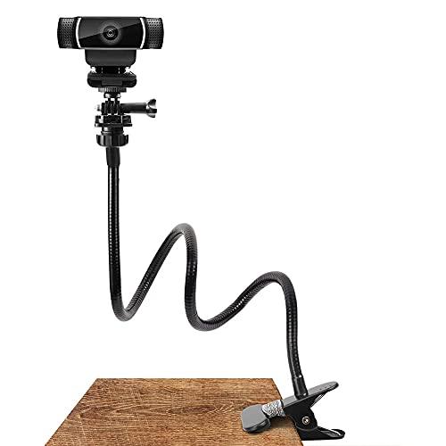 Soporte para cámara web puede ayudarte a capturar fotos, vídeos en vivo, grabar vídeos de YouTube, enseñanza de yoga en tiempo real, cocina, deportes, ciclismo, etc. Tornillos