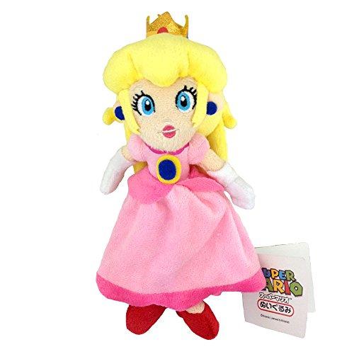 Yijinbo Prinzessin Peach Super Mario Bros Plüschtier Stofftier Kuscheltier Rosa Puppe Figur 20,3 cm