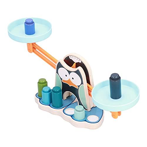 Gedourain Juguetes de balanza, balanza de Madera para niños