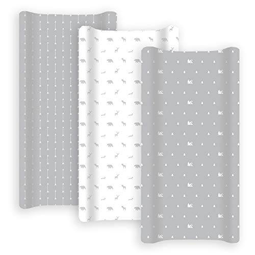Grow Wild Changing Pad Cover 3 Pack | 100% Cotton, Jersey Soft | Changing Table Pad Cover | Woodland Grey Diaper Changing Pad Covers or Changing Table Sheet