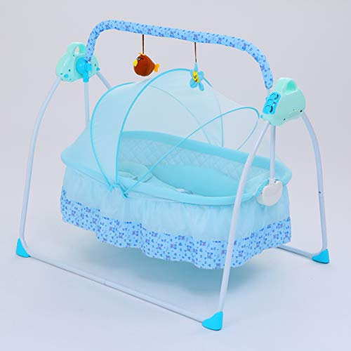Lowest Price! SANPLO Baby Swing Bassinet Cradle Electric Rocking Swings Bed Infants Automatic Baby C...