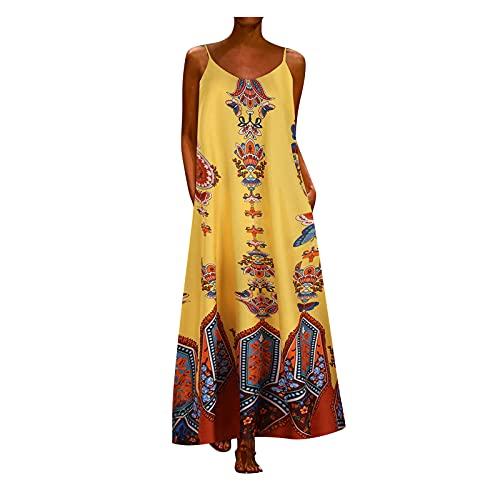 Generic Robe Longue Femmes De Vacances Imprimée Décontractée Robe à Imprimé Floral Décontracté pour Femmes à Et à Manche Courte Soire Fête Été Plage Chic Robe Midi