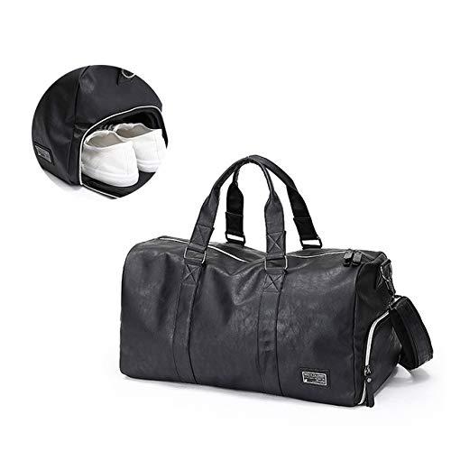 ARMAC Travel Bag Male Leather Handbag Travel Luggage Gym Bag