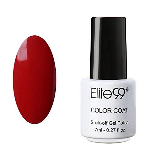 Elite99 Soak Off UV LED Color Gel Polish Lacquer Nail Art Manicure 7ml 1337 Blood Red