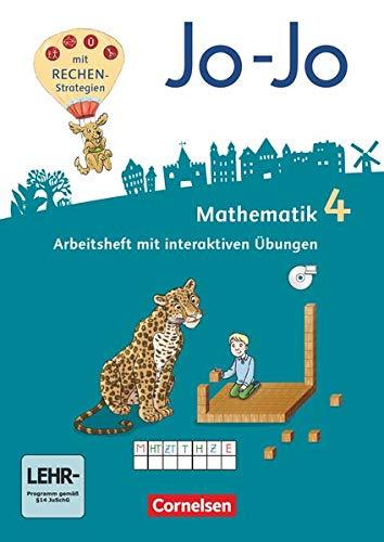 Jo-Jo Mathematik - Allgemeine Ausgabe 2018 - 4. Schuljahr: Arbeitsheft - Mit interaktiven Übungen auf scook.de und CD-ROM