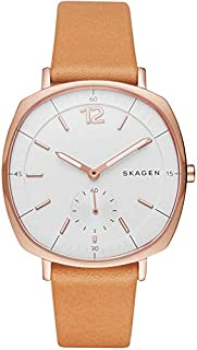 Skagen Women's White Dial Leather Band Watch - SKW2418