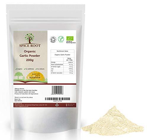 Aglio organico in polvere 200g (Bio Garlic Powder, bio Aglio Polvere) - Certificato biologico, qualità Premium   Gusto e aroma eccellenti   Vegano