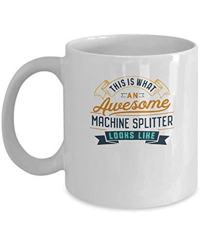 Divertida taza de café con divisor de máquina, impresionante trabajo, ocupación, regalos para el día de la madre, novedad, tazas divertidas, regalo de 11 onzas