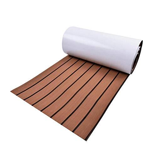 Brownrolly VA Teak Decking Sheet, zacht, duurzaam, gemakkelijk te snijden, anti-fouling en anti-slip mat voor boot