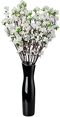 SATYAM KRAFT Artificial Blossom Flower Sticks for Home Decoration and Craft (Pack of 2, White)