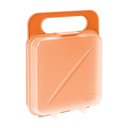 Tatay Porta Sandwich y Alimentos, Libre de BPA, Reutilizables, Apto Lavavajillas y Microondas, Congelacion hasta -40º, 1 Unidad, Color Naranja, Medidas 14 x 4 x 18 cm