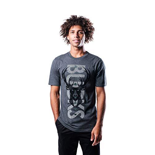 Ultra Game NBA Milwaukee Bucks Herren T-Shirt mit aufrechtem Logo, kurzärmelig, Dunkelgrau, Größe S