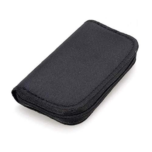 22 slots geheugenkaart case waterdichte SD-kaarthouder draagtas voor micro SDHC SDXC TF SIM CF-kaart - zwart