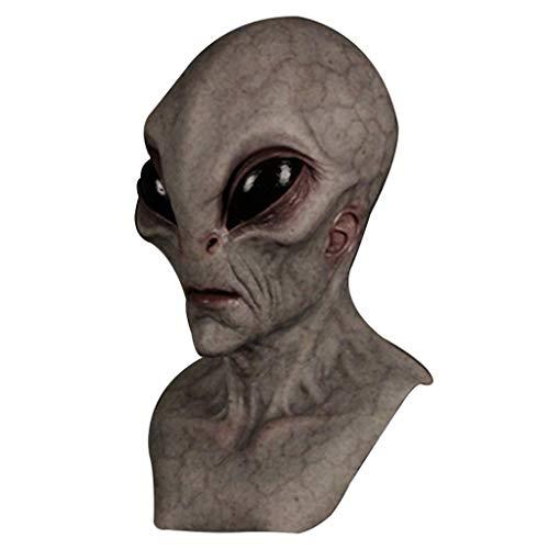 JCOC Halloween Alien Mask Scary Horrible Horror Alien mask Magic Mask (E)