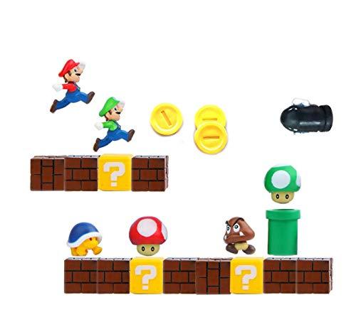 Calamite da frigo,personaggi super mario magneti 3d,per lavagne calendari piccole,parete in metallo giocattoli per bambini perfetti per ornamenti decorazione collezionismo 22pz