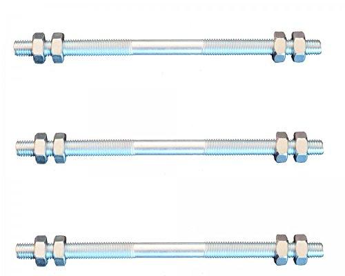 FKAnhängerteile 3 Stück Gewindestange M10 Rechts - Links Gewinde 300 mm + 12 Muttern