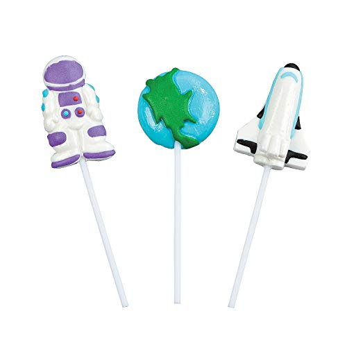Fun Express Outer Space Fun Character Suckers (1 dz),assorted colors