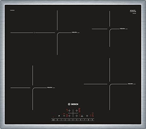 Bosch PIF645BB1E Serie 6 Induktionskochfeld (autark) / 60 cm / Schwarz / Umlaufender Rahmen / TouchSelect / 17 Leistungsstufen / PowerBoost / QuickStart / ReStart / Energieverbrauchs-Anzeige