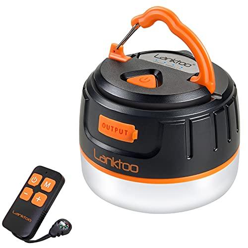Lanktoo 2-in-1 Waterproof LED Camping Lantern