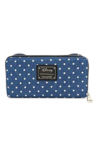 Loungefly x Minnie Mouse Denim Polka Dot Zip-Around Wallet