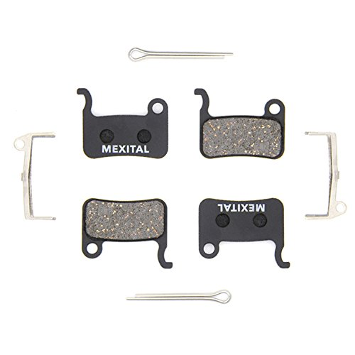 MEXITAL 2 Pares Pastillas Freno Disco para Shimano LX M585 Deore M505 M535 M545 M595 M596 Hone M601 SLX M665 XT M765 M775 M776 Saint M800 XTR M965 M966 M975 BR-R505 S501 S500 T665 T605