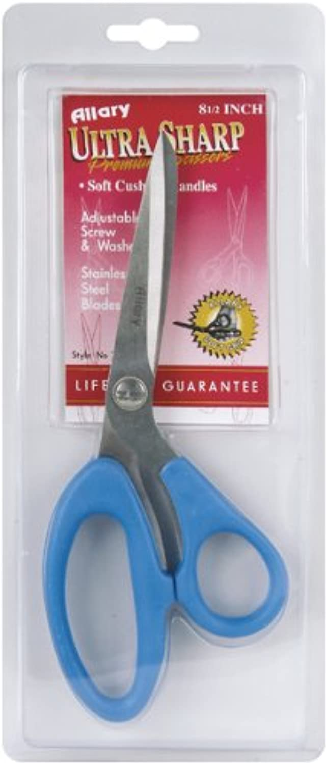 Allary Corporation Ultra Sharp 8-1/2-Inch Scissors with Soft Cushion Handle, Various Colors