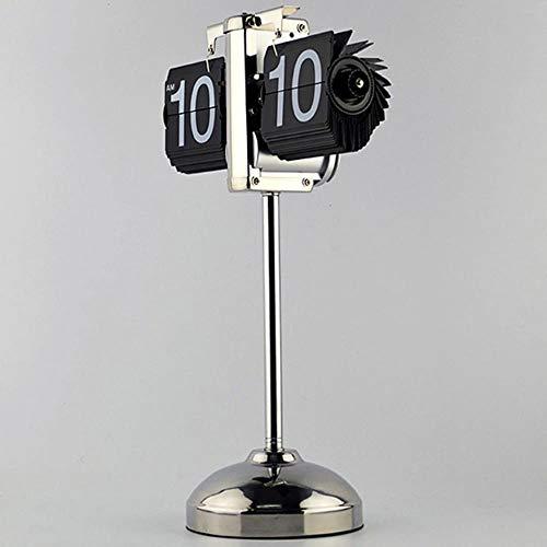 HENGCHENG Relojes Escritorio Rauto Flip Clock Vintage Page Reloj De Mesa Digital Flip Flap Down Relojes Soporte Ajustable Reloj De Escritorio