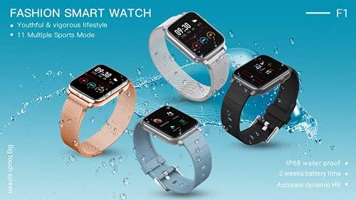 LKM F1 Natación Smart Watch IP68 Fitness Tracker Smartwatch para Android iOS Smartphone,H