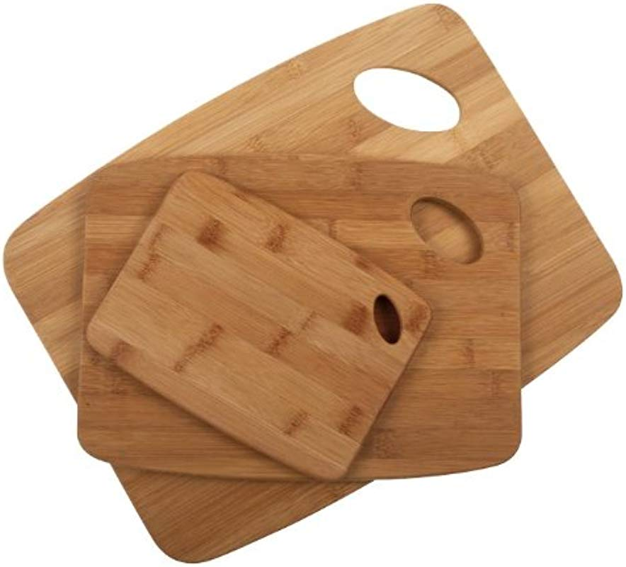Core Bamboo Classic Cutting Board Combo Pack Natural Small Medium Large