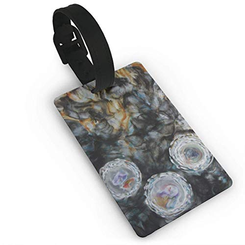 Abstract Encaustic Painting Art Pvc Travel Luggage Tag With Strap For Baggage Bag Suitcases Business Card Holder Name Id Labels Set For Travel