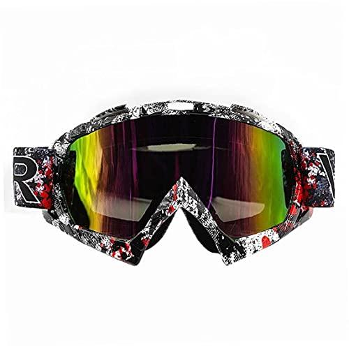 EElabper Gafas De Motocicleta Gafas Ciclismo Gafas De Esquí a Prueba De Viento Protección De Deporte Aire Libre Que Compite con La Bici del Camino (Colorido)