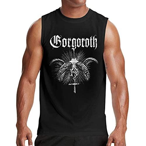 Lsjuee Gorgoroth Camiseta sin Mangas para Hombre Workout Gym Camisetas sin Mangas Negra