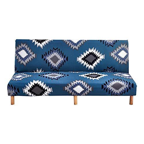 Yestter Funda de sofá cama Clic-clac Funda de sofá cama elástica para cubrir completamente el sofá sin apoyabrazos, extensible elástica, extraíble, perfecta protección para sofá 160 – 190 cm