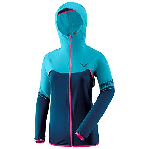 DYNAFIT W Alpine Waterproof 2.5L Jacket Colorblock-Blau, Damen Windbreaker, Größe 34 - Farbe Silvretta