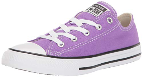 Converse Girls' Chuck Taylor All Star Galaxy Dust Sneaker, Bright Violet/Natural Ivory, 2 M US Little Kid