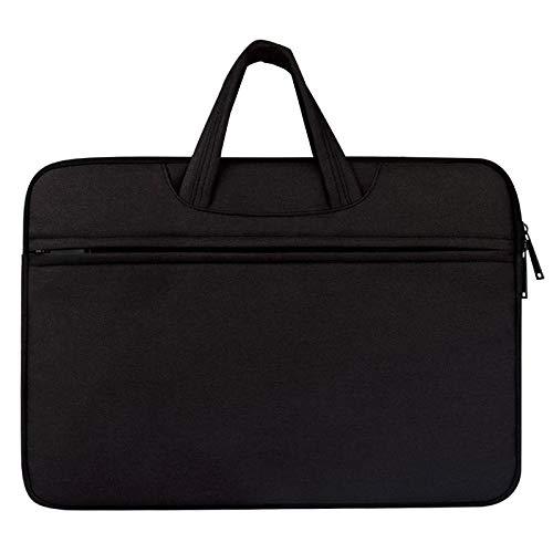 Borse per Notebook e Accessori Traspirante Spalla Resistente all Uso Zipper Portatile Laptop Bag, for 13.3 Pollici e sotto MacBook, Samsung, Lenovo, Sony, dell Alienware, CHUWI, ASUS, HP (Nero) Ctj