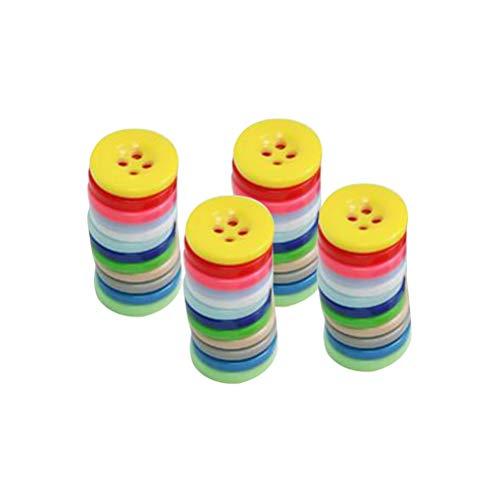 SUPVOX 1000 unids 4 Agujeros Redondos Botones de Resina de Colores para niños Scrapbooking Costura DIY Abrigo artesanía Adorno Hecho a Mano (Color al Azar)