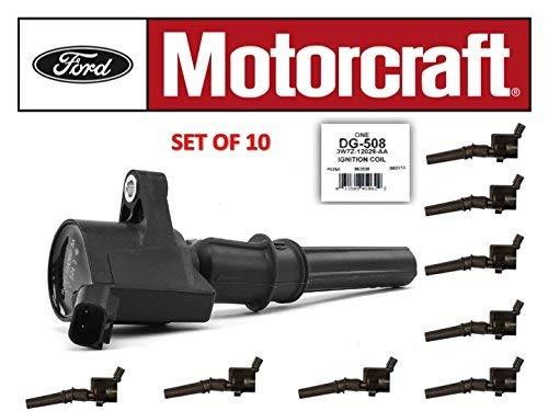 10 FORD MOTORCRAFT IGNITION COIL DG508 FORD 4.6L 5.4L 6.8L V8 V10 ENGINE