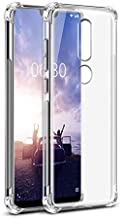 JGD PRODUCTS Shock Proof Protective Soft Back Case Cover for Nokia 6.1 Plus (Transparent) [Bumper Corners with Air Cushion Technology]