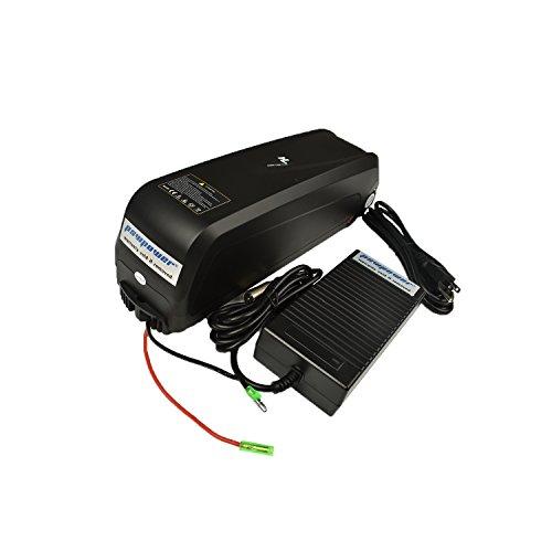 Pswpower 48V 13Ah eBike batería de repuesto + 54.6V 2A cargador, batería de ion de litio para bicicleta eléctrica Scooters bicicleta eléctrica triciclo, Fit 250W/350W/500W Motor