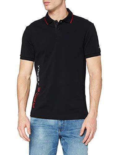 Hackett Mens AMR Race Team Polo Shirt, 999BLACK, M