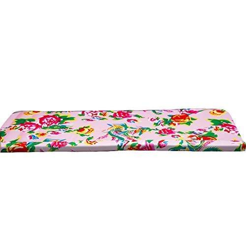 HIGHKAS Almohadilla de colchón para Muebles de Repuesto, cojín para Tumbona para Interior y Exterior, cojín Suave para Banco de jardín, Almohada Rectangular Decorativa Floral para Patio