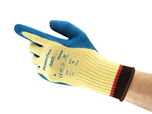 Ansell PowerFlex 80-600 Gants de protection contre les coupures, protection mécanique, Bleu, Taille 11 (Sachet de 12 paires)